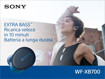 Sony WF-XB700 Cuffie Auricolare Bluetooth Blu