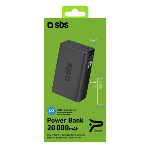 SBS TTBB20000PD30WK batteria portatile Ioni di Litio 20000 mAh Nero