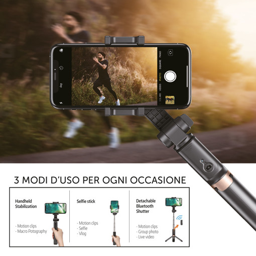 XD XDAPLGIMBAL stabilizzatore per macchina fotografica Stabilizzatore per fotocamera per smartphone Nero