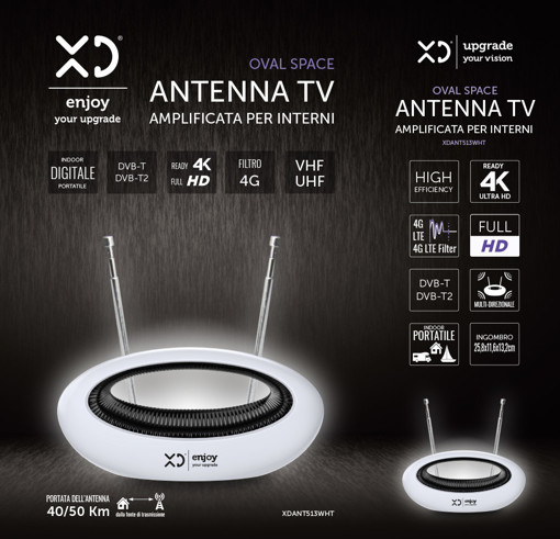 XD XDANT513WHT antenna televisiva Interno