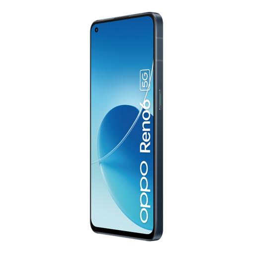OPPO Reno Reno6 Smartphone 5G, Dual Sim, Mediatek 900, Display 6.43'' FHD+ AMOLED 90Hz, Tripla fotocamera da 64MP + Ultra-Clear 108MP Image, RAM 8GB + ROM 128GB, 4300mAh & SuperVOOC 2.0 65W, Wi Fi 6, [Versione Italiana], Stellar Black