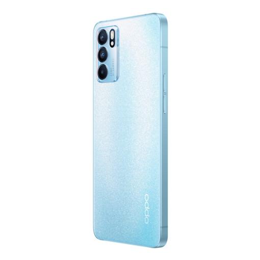 OPPO Reno Reno6 Smartphone 5G, Dual Sim, Mediatek 900, Display 6.43'' FHD+ AMOLED 90Hz, Tripla fotocamera da 64MP + Ultra-Clear 108MP Image, RAM 8GB + ROM 128GB, 4300mAh & SuperVOOC 2.0 65W, Wi Fi 6, [Versione Italiana], Arctic Blue