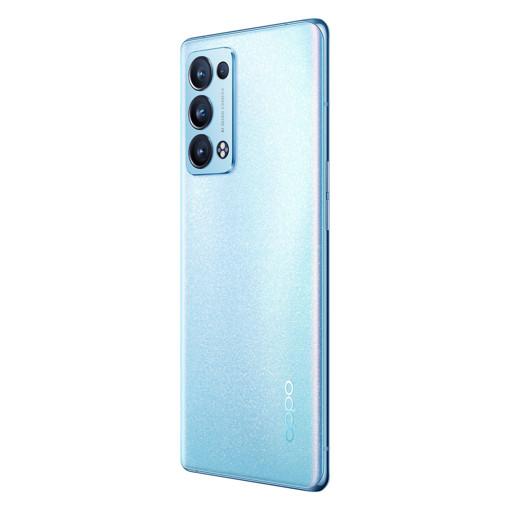 OPPO Reno Reno6 Pro Smartphone 5G, Qualcomm 870, Display 6.55'' FHD+ AMOLED 90Hz, Quadrupla fotocamera 50+16+13+2MP & AI Highlight Video 2.0., RAM 12GB + ROM 256GB, 4500mAh & SuperVOOC 2.0 65W, Wi Fi 6, Dual Sim, [Versione Italiana], Arctic Blue