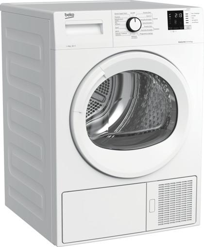 Beko DRX823N asciugatrice Libera installazione Caricamento frontale 8 kg A++ Bianco