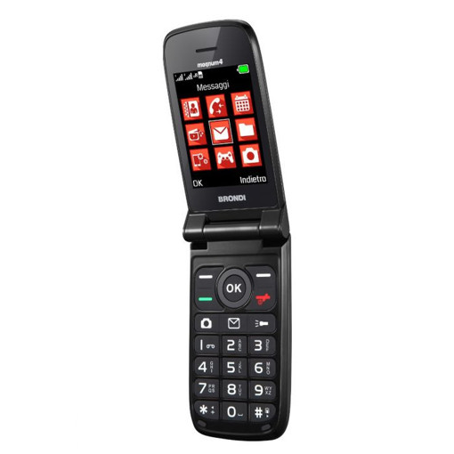"""Brondi Magnum 4 7,11 cm (2.8"""") Nero Telefono cellulare basico"""