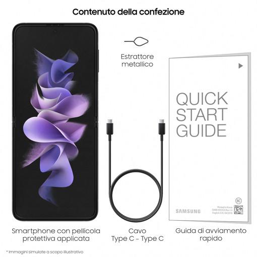 "Samsung Galaxy Z Flip3 5G 17 cm (6.7"") SIM singola Android 11 USB tipo-C 8 GB 256 GB 3300 mAh Nero"