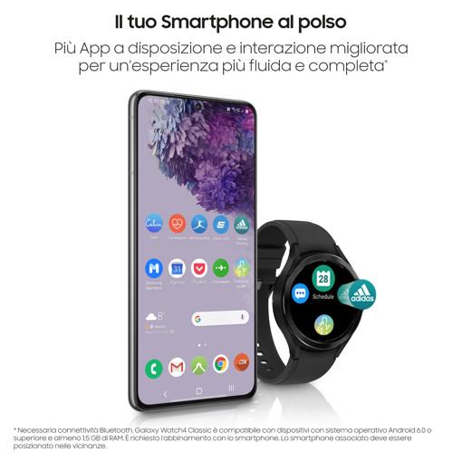 "Samsung Galaxy Watch 4 Classic 46mm 3,56 cm (1.4"") SAMOLED Nero GPS (satellitare)"