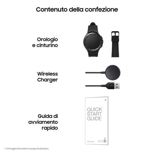 "Samsung Galaxy Watch 4 Classic 46mm 3,56 cm (1.4"") SAMOLED Argento GPS (satellitare)"