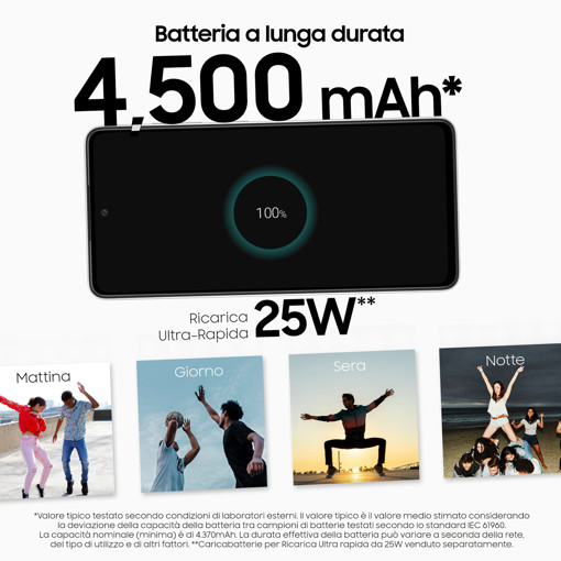 "Samsung Galaxy A52s 5G Display 6.5"" FHD+ Super AMOLED 128GB Awesome White"