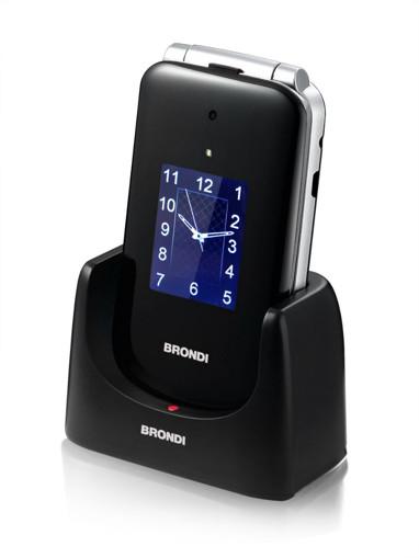 """Brondi Amico Supervoice 7,11 cm (2.8"""") Nero Telefono per anziani"""