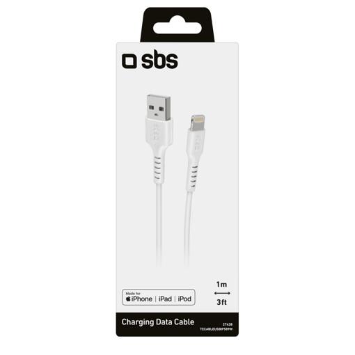 SBS TECABLEUSBIP589W cavo Lightning 1 m Bianco