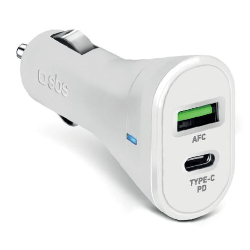 SBS TECRPD20W Caricabatterie per dispositivi mobili Bianco Auto