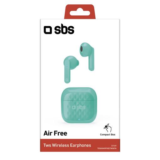 SBS TWS Air Free Cuffie Auricolare Base di ricarica Verde