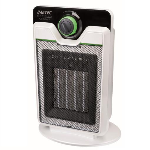 Imetec Compact Interno Nero, Bianco 2000 W Riscaldatore ambiente elettrico con ventilatore