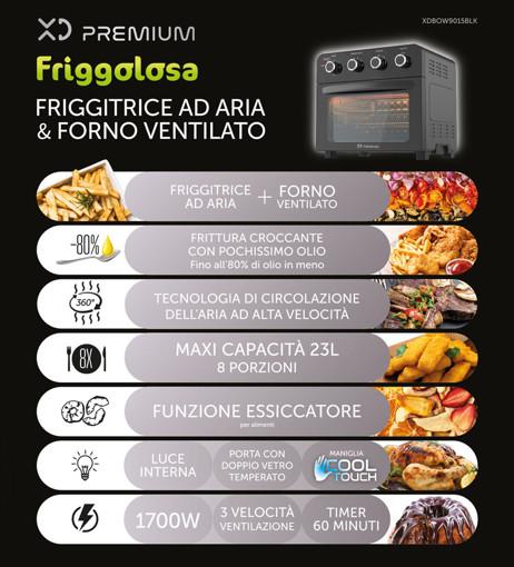 XD XDBOW9015BLK fornetto con tostapane 23 L 1700 W Nero Grill