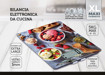 XD XDCAM9336K bilancia da cucina Multicolore Superficie piana Rettangolo Bilancia da cucina elettronica