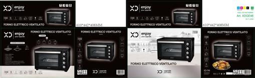 XD XDGE48 forno 48 L 2000 W Nero