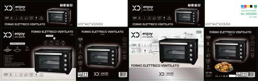 XD XDGE60 forno 60 L 2000 W Nero