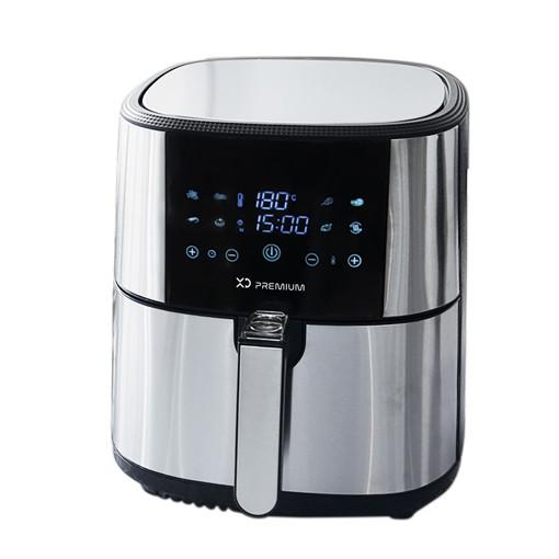 XD XDJW514 friggitrice Singolo 6 L 1800 W Friggitrice ad aria calda Nero, Acciaio inossidabile