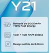"""VIVO Y21 16,5 cm (6.51"""") Doppia SIM Android 11 4G USB tipo-C 4 GB 64 GB 5000 mAh Blu"""