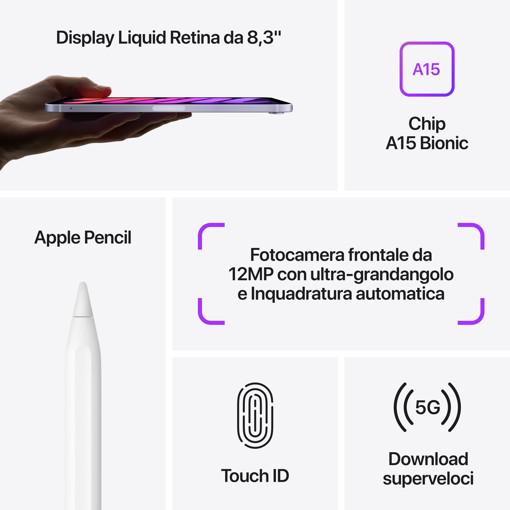 Apple iPad mini Wi-Fi + Cellular 64GB - Grigio siderale