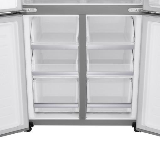LG GML844PZ6F.APZQEUR frigorifero side-by-side Libera installazione 506 L F Metallico, Argento