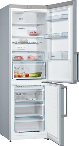 Bosch Serie 4 KGN36XLER frigorifero con congelatore Libera installazione 326 L E Acciaio inossidabile