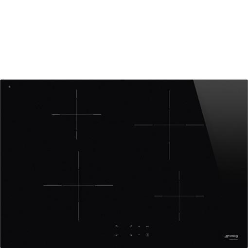 Smeg SI2741D piano cottura Nero Da incasso 75 cm Piano cottura a induzione
