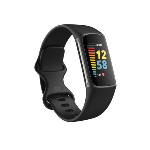 Fitbit Charge 5 Braccialetto per rilevamento di attività Nero, Grafite
