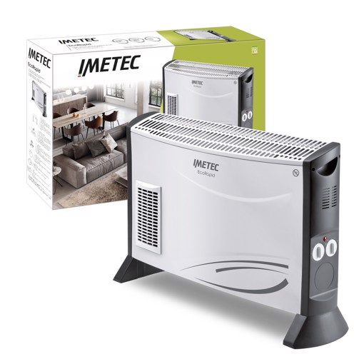 Imetec Eco Rapid Interno Grigio, Bianco 2000 W Stufa elettrica a convezione