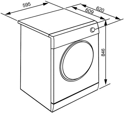 Smeg DHT73LIT asciugatrice Libera installazione Caricamento frontale 7 kg A+++ Bianco