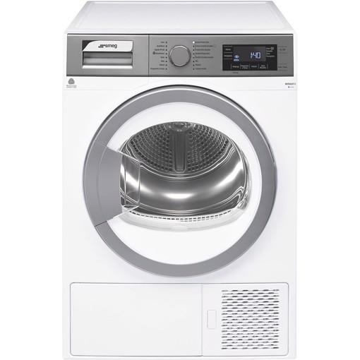 Smeg DHT83LIT-1 asciugatrice Libera installazione Caricamento frontale 8 kg A+++ Argento, Bianco