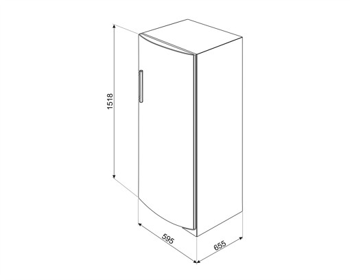 Smeg CV275NF congelatore Libera installazione 214 L F Bianco