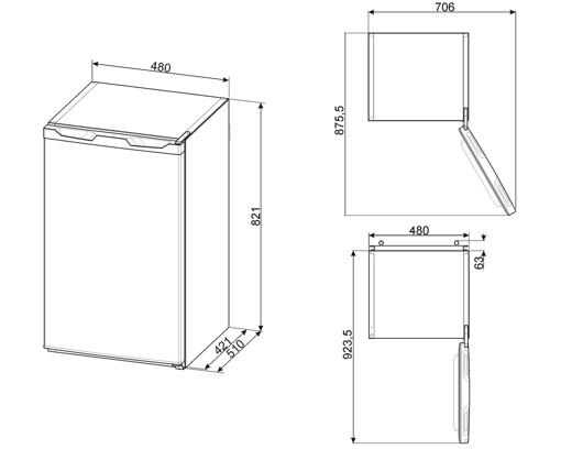 Smeg FF08FW congelatore Libera installazione 63 L F Bianco