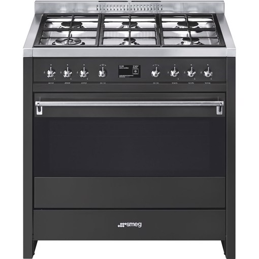 Smeg A1A-9 cucina Piano cottura Gas Antracite A+