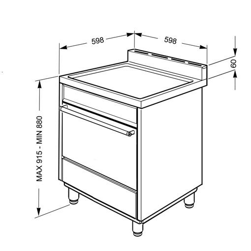 Smeg B61GMXI9 cucina Piano cottura Gas Acciaio inossidabile A