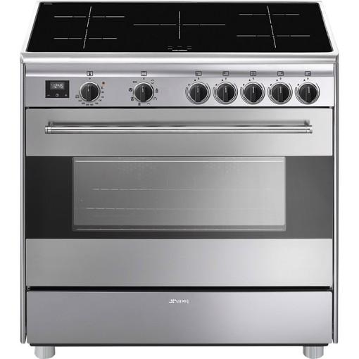 Smeg BG91IX9-1 cucina Piano cottura Piano cottura a induzione Acciaio inossidabile A