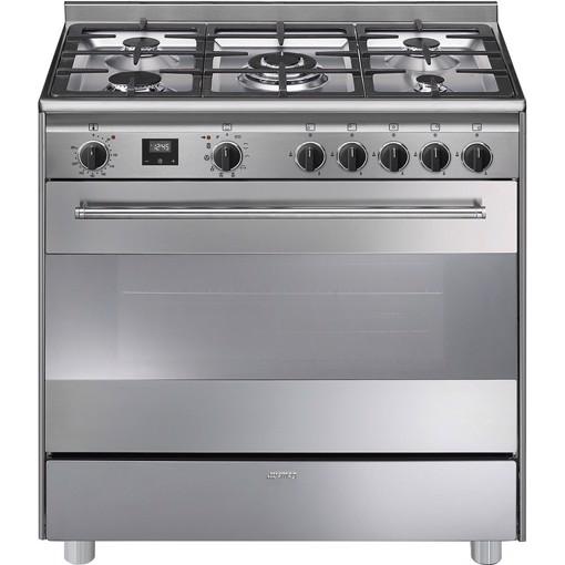 Smeg BG91PX9-1 cucina Piano cottura Gas Acciaio inossidabile A+