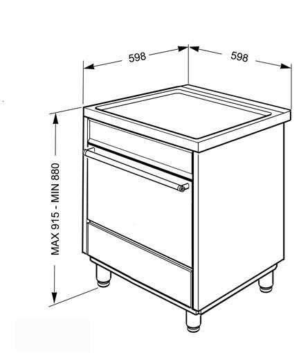 Smeg C6IMXI9 cucina Piano cottura Piano cottura a induzione Acciaio inossidabile A