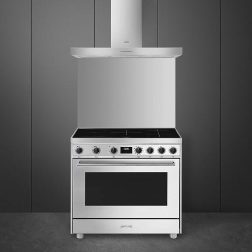 Smeg Master Mista Cucina freestanding Piano cottura a induzione Acciaio inossidabile A