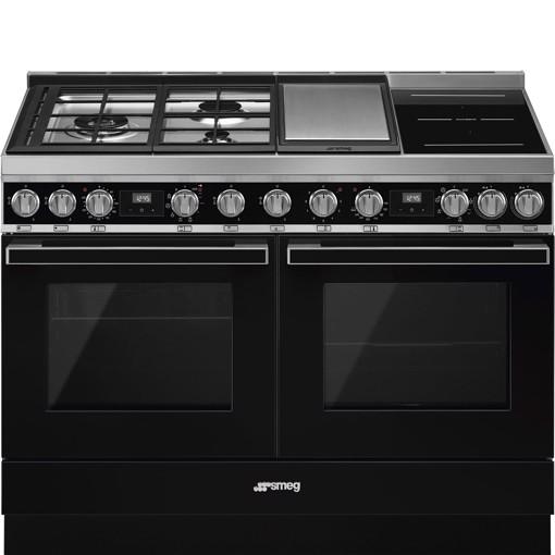 Smeg CPF120IGMPBL cucina Piano cottura Combi Nero A+