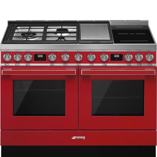 Smeg CPF120IGMPR cucina Piano cottura Combi Rosso A+