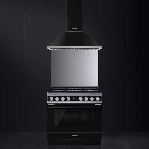Smeg CPF9GMBL cucina Piano cottura Gas Nero A+