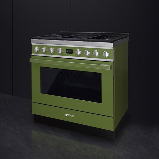 Smeg CPF9GMOG cucina Piano cottura Gas Oliva A+