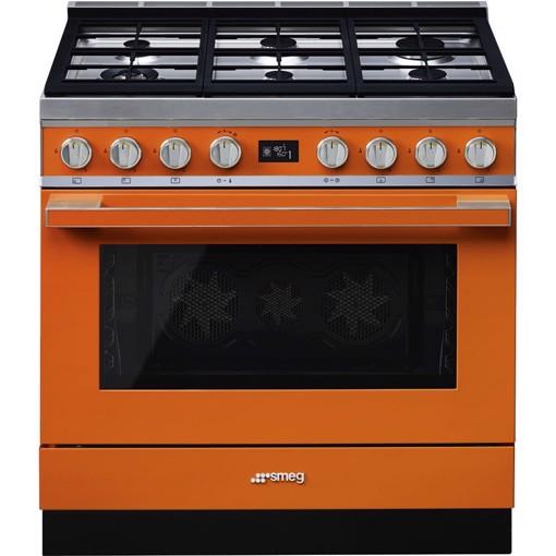Smeg CPF9GMOR cucina Piano cottura Gas Arancione A+