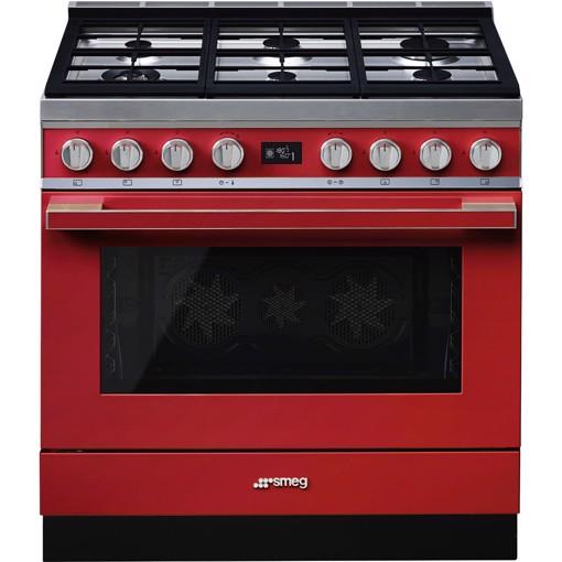 Smeg CPF9GMR cucina Piano cottura Gas Rosso A+
