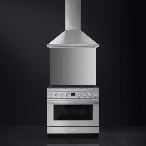 Smeg CPF9GMX cucina Piano cottura Gas Acciaio inossidabile A+
