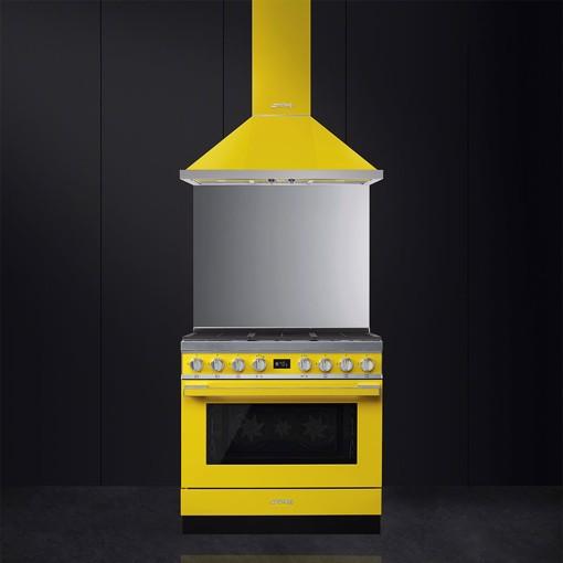 Smeg CPF9GMYW cucina Piano cottura Gas Giallo A+