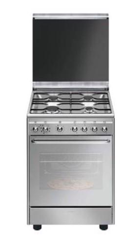 Smeg CX60SVPZ9 cucina Piano cottura Gas Acciaio inossidabile A