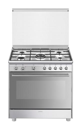 Smeg SX91MDS9 cucina Piano cottura Gas Acciaio inossidabile A